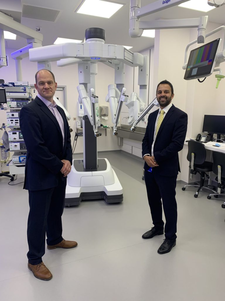Mr Gulamhusein and Mr Oates from Urology Clinics Manchester